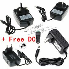 AU Adapter 2A Power Supply Charger Transformer For LED Strip DC12V + Free DC