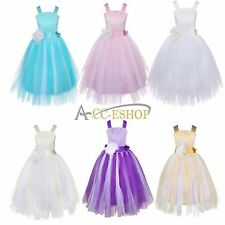 Girl Kid Flower Baby Occasion Crossed Back Wedding Party Pageant Communion Dress