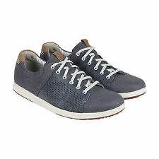 Clarks Norwin Style Mens Blue Canvas Lace Up Sneakers Shoes