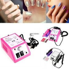 2 Color Nail Acrylic Manicure Pedicure Electric Nail Drill File Machine Set Kits