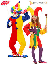 Children Clown Costume Boys Girls Jolly Jester Fancy Dress Circus Outfit Book We
