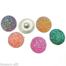 Gift Wholesale Resin Snap Buttons Fit Snap Bracelets Mixed B31861 18mm