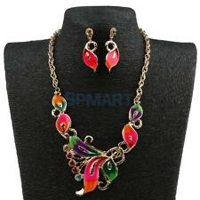 1 Set of Necklace Earrings Party Bridal Enamel in Alloy Crystal Wedding Jewelry