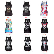 Tops Stretch Vest Gothic Tank Corpse Sleeveless  Womens Tees Blouses