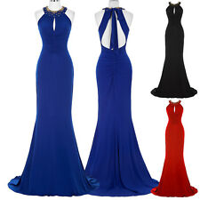 New Long Formal Gown Evening Cocktail Party Prom Slim Celebrity Bridesmaid Dress