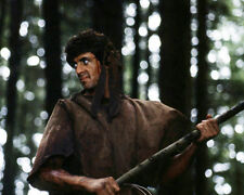 First Blood Sylvester Stallone as Rambo Holding Spear Poster or Photo