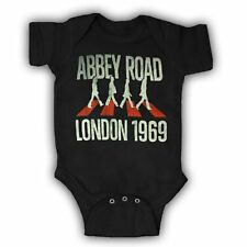 Infant Black Music The Beatles Abbey Road London 1969 Baby One Piece Romper