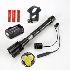 3800LM 3xCREE T6 LED Trustfire TR-3T6 Flashlight Torch Hunting light Mount Rifle