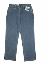 Lee Relaxed Fit Straight Leg Womens Blue Stretch Denim Jeans Size 4P, 8P New