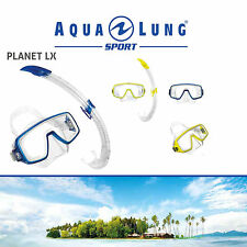 AQUA LUNG SPORT JUNIOR PLANET LX SNORKEL 2PC SET XS/S CHILDRENS BOYS/GIRLS/KIDS