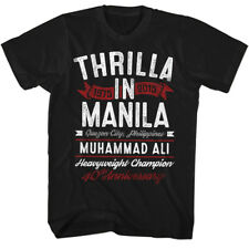 New Authentic Muhammad Ali Thrilla Anniversary Mens Tee Shirt Sizes S-3XL Boxing