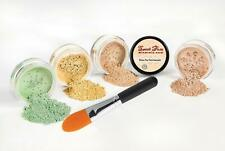 CONCEALER & CORRECTOR KIT with BRUSH Mineral Makeup Bare Skin Sheer Powder Cover