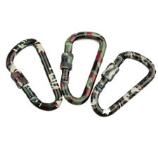 Camo Outdoor Camping Hiking Carabiner Clip Locking Hook Hanging Buckle Keychain