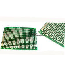 10 Breadboard Prototype Double Side PCB 5cm x 7cm 50mmx70mm 432 Holes FR4 Green