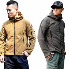 Warm Winter Men's Fleece Hoody Coat Zipper Tactical Military Jacket Outwears Hot