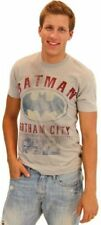 Mens Light Gray DC Comics Super Hero Batman Gotham City Urban Hero T-Shirt Tee