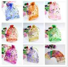 25/50/100pcs Luxury Jewellery Pouches Packing Organza Gift Bags Wedding Party