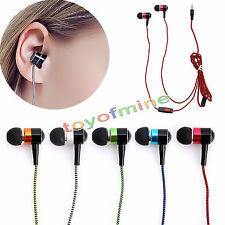 Hot Metal 3.5mm Stereo Earphone in-ear Headphone with Mic Braided OFC Cable 5 FC