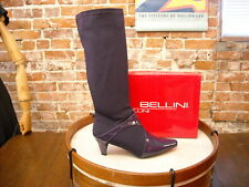 Bellini Estella Purple Stretch & Patent Tall Boots NEW