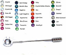30 Colours Wedding Crystal 7mm Tie Cravat Stick Pin made with SWAROVSKI ELEMENTS
