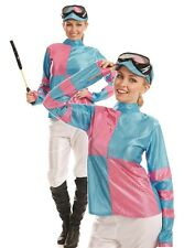 Ladies Sexy Pink Jockey Grand National Fancy Dress Costume Outfit 8-22 Plus Size