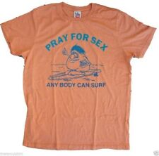New Authentic Junk Food Pray For Sex Any Body Can Surf Mens T-Shirt