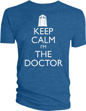 Dr Doctor Who - TARDIS LOGO Keep Calm I'm The Doctor Male Style T-Shirt Tshirt