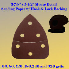 Mouse Detail Sander Sandpaper Hook Loop 60 240 Grit For Black and Decker Palm