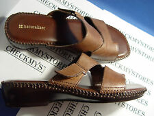 NIB NATURALIZER FUNTIME-2 LEATHER SANDALS SLIDES SHOES