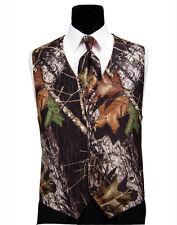 NEW 2XL Mossy Oak Tuxedo Vest Long Tie Hankie Alpine Break Up Camouflage Camo
