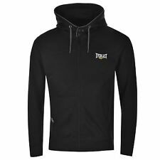 Everlast Full Zip Hoody Mens Black Jumper Sweatshirt Sweater