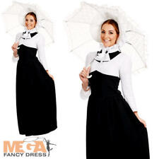Victorian Ladies Fancy Dress Posh Edwardian Historical Womens Adults Costume New