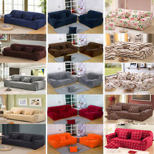 Washable Plush / Poly Stretch Fabric Sofa Couch Cover Protector For 1 2 3 Seater
