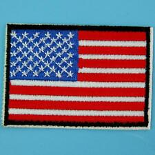American Us Flag Iron on Patch Applique Sew Badge Embroidered Biker Punk Rock