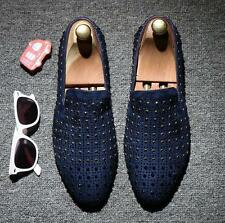 Stylish Men's slip On Rivet Party Sequins Dress Casual Nightculb Shoes Loafer YT
