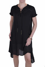 Diesel Dress Tunic 100% Silk Benes Black Size XXS-M