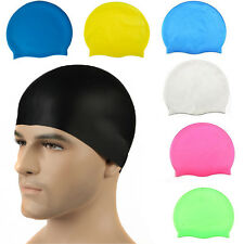New Hot Silicone Swimming Cap  Long Hair Thick or Short - Average