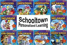 SCHOOLTOWN Personalized Learning Grade School Home Study PC Windows NEW Sealed