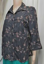 BNWT EVANS ESSENCE EMBROIDERED CRINKLE SHIRT SIZE 16