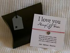 Love Wish Bracelet & Pillow Gift Box - I love you Always & Forever.....