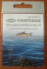 80 Fladen Vantage Pro Match size 12 Barbless Hooks in 4 packets