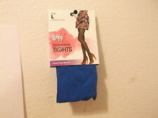 NEW LADY'S LEGGS SEASONLESS FASHION TIGHTS in a SOLID BLUE COLOR w/ CONTROL TOP
