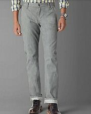 Dockers Pants Selvedge Alpha Slim Tapered flat front GRAY MEN cotton Twill Chino