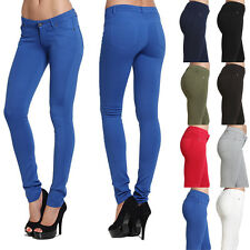 MOGAN Colored 4 WAY Stretch KNIT SKINNY PANTS JEGGINGS Low Rise Curve Hugging