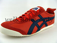 new Asics Onitsuka Tiger Mexico 66 red blue navy mens vtg leather retro shoes