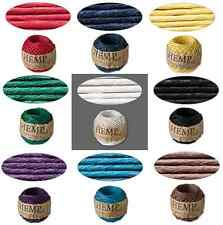 Cord Twine Thread Hemptique® Polished Hemp ALL COLORS 1mm, 20 pound test 82 feet