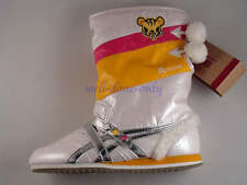 LE Asics Onitsuka Tiger TOKIDOKI Snow Boots Vegan white yellow womens shoes new
