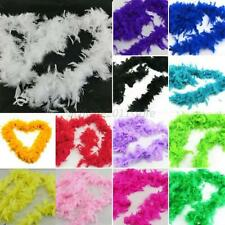 2M Fluffy Feather Boa Flower Craft For Party Wedding Dress-Up Costume Decoration