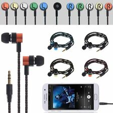 3.5mm In-Ear Earphones Stereo Headphones Braided Sports Headset Metal Earbuds
