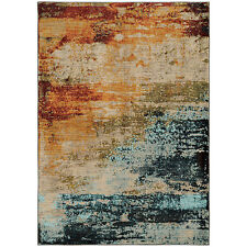 RUGS AREA RUGS CARPET CLEARANCE AREA RUG SALE DECOR Modern Blue RUGS NEW